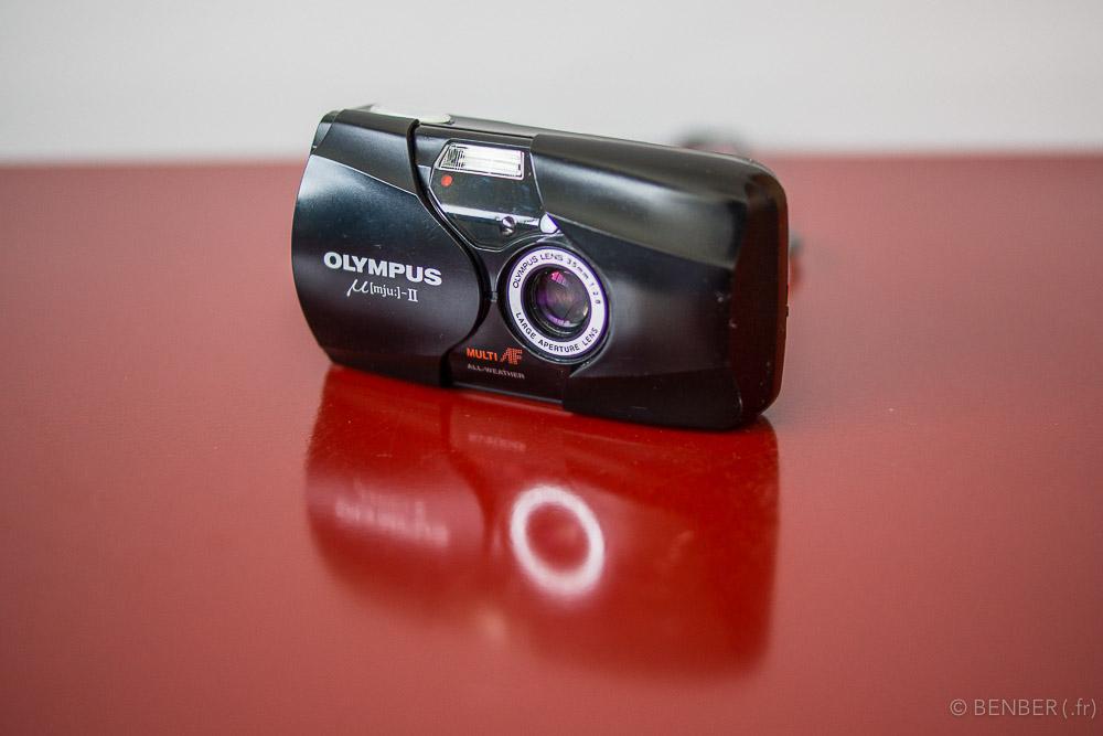 revue de l'appareil photo argentique olympus mju 2