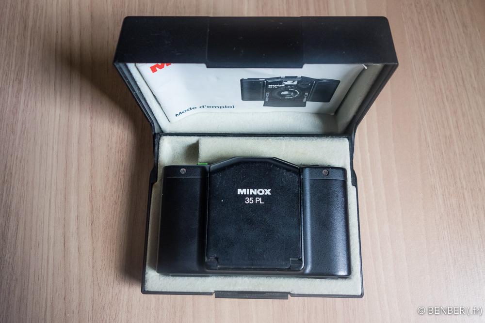 minox 35 pl avec son écrin et manuel.