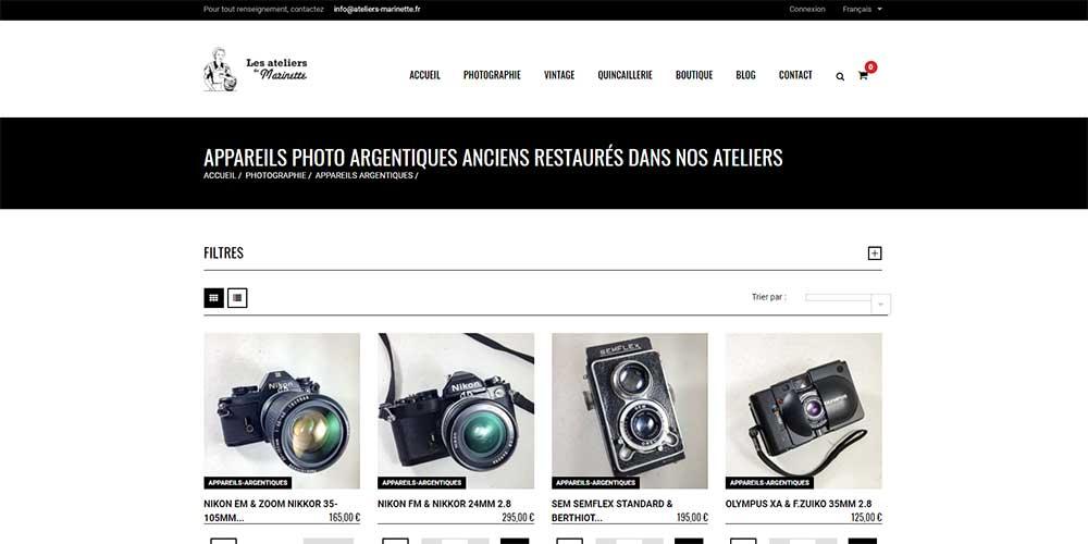 Trouver un vendeur professionnel pour acheter son appareil photo argentique.
