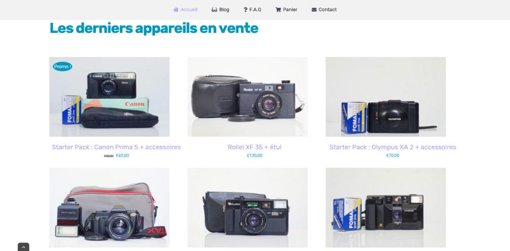 acheter appareil photo argentique vendeur pro, benber's shop
