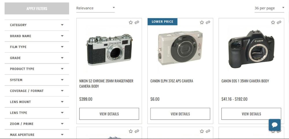 Trouver un vendeur professionnel pour acheter son appareil photo argentique