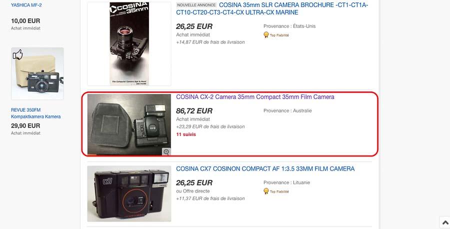 acheter ou vendre son appareil photo argentique au bon prix.