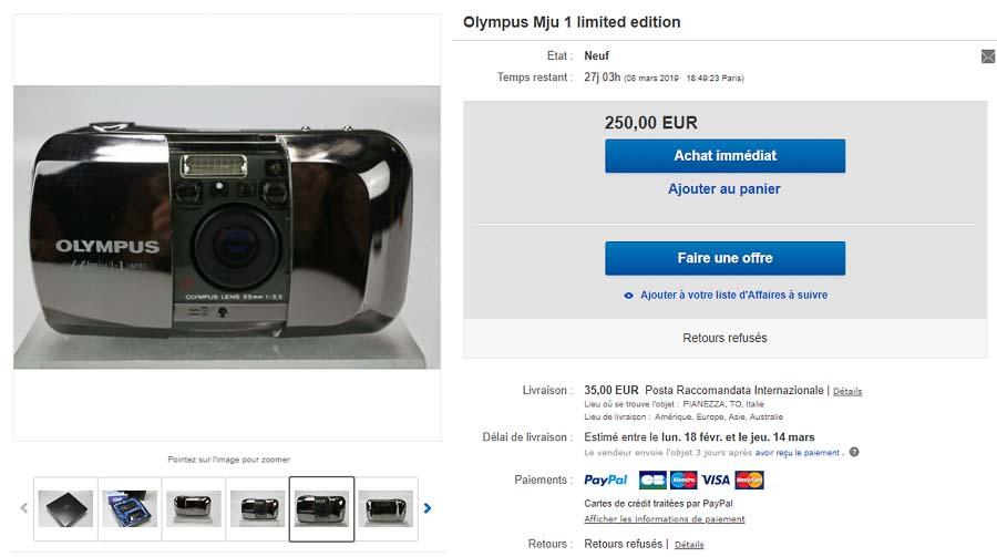 acheter ou vendre un argentique au bon prix, olympus mju 1 limited