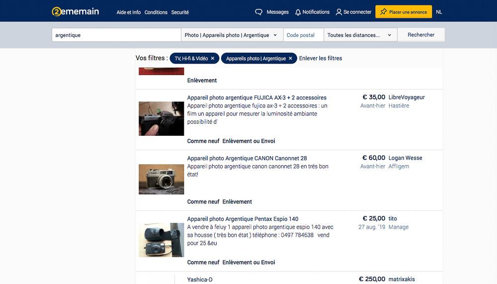 Acheter des argentiques autre que via Ebay et Leboncoin