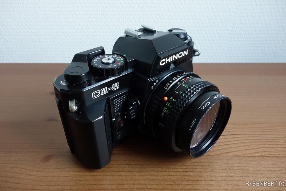 revue du chinon ce-5, appareil photo argentique, benber
